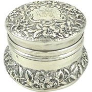 Sterling Silver & Gilt Dresser or Vanity Jar by Gorham