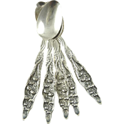 Whiting Sterling Silver  Lily of the Valley Pattern After Dinner Spoons