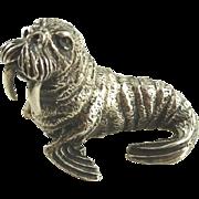 Silver Walrus Figurine