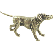 Silver Figurine in the Form of a Hound Hunting Dog