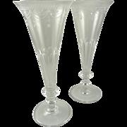 William Yeoward Crystal Champagne Flutes in Presentation Box