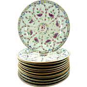 Set of Twelve Chinese Porcelain Export Plates