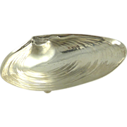 Wallace Sterling Silver Large Shell Dish in Form of Clam
