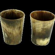 Antique Horn Shot Glasses Cups