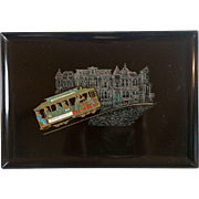 Vintage Couroc Of Monterey San Francisco Cable Car Decorative Tray