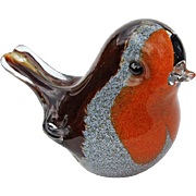 Vintage Signed Langham Glass Bird Paperweight