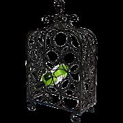 SALE Vintage Iron Wine Rack