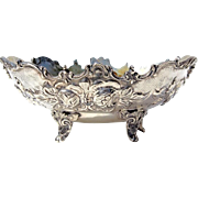 19th Century 800 Silver Footed Floral Bowl