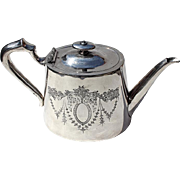 Early Vintage English Silver Plated Teapot, Circa 1920