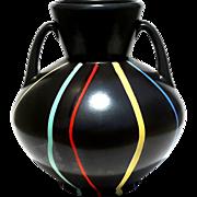 SALE Large Signed Mid-Century Modern Art Pottery Vase, Circa 1950