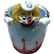SALE Vintage Murano Glass Clown Bowl, Circa 1960