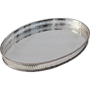 SALE Early Vintage Sheffield Silver Plated Gallery Tray By William Adams, Circa 1920
