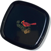 Vintage Couroc Of Monterey Cardinal Tray