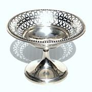 SOLD Vintage 800 Silver Pierced Pedestal Bowl