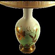 Early 20th Century Greiner & Herda Signed Porcelain Iris Lamp, Circa 1920