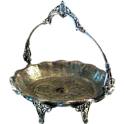 Victorian Silver Plate Footed Basket By James W. Tufts, Circa 1875