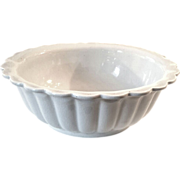 19th Century Etruria Ironstone Pottery Scalloped Edge Bowl, Circa 1860
