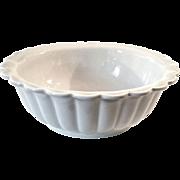 SALE 19th Century Etruria Ironstone Pottery Scalloped Edge Bowl, Circa 1860