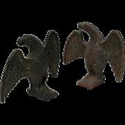 SALE 19th Century Cast Iron Snow Birds, Circa 1875