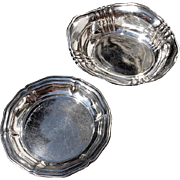 SALE Pair Of Vintage Continental 800 Silver Nut Or Mint Dishes, Circa 1940