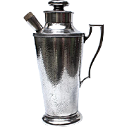 SALE Large Vintage Cross Silver Plated Cocktail Drink Shaker, Circa 1940