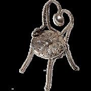 SALE Early Vintage Italian Fine Sterling Silver Doll House Garden Chair