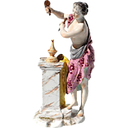 19th Century French Samson Porcelain Figure Of A Woman