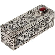 SOLD Vintage 800 Silver Lipstick Holder With Mirror