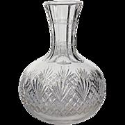 Antique Cut Crystal Wine Decanter Bottle, Circa 1900