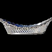 SALE Early Vintage Pierced Silverplate Bread Basket, Circa 1930