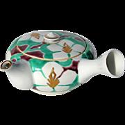 Vintage Signed Japanese Floral Porcelain Teapot