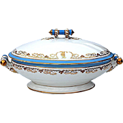 SALE Antique French Limoges Tureen By Bernardaud & Co., Circa 1900