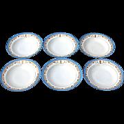 SALE Set Of Six Limoges Salad Plates/Bowls By Bernardaud & Co., Circa 1900