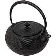 Early Vintage Signed Japanese Iron Teapot