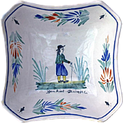 Antique French Henriot Quimper Faience Bowl, Circa 1910