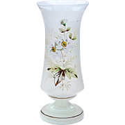 SALE 19th Century Victorian Hand-Blown Bristol Glass Vase