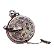 SALE Rule of Love Silver Mechanical Measuring Tape Charm