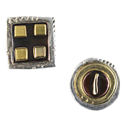Susan Chin 14kt Gold and Silver Stud Earrings