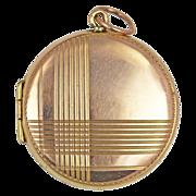 Art Deco 9kt Rose Gold Geometric Locket