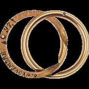 SALE Victorian 1897 Gimmel Wedding Ring or Band 14kt Gold