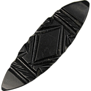 Victorian Whitby Jet Bar Brooch