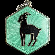 David Andersen Capricorn Zodiac Sign Sterling Silver Pendant or Charm