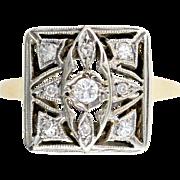 Antique Edwardian Diamond 14kt Gold Ring