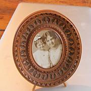 REDUCED Lovely Carved 19C Small Easel Frame