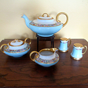 Hand Painted Limoges W&G Tea Set & Salt & Pepper