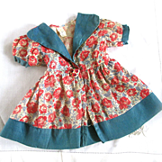 "REDUCED Precious Roses 40's Factory Doll Dress For 21"" Doll"