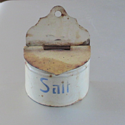REDUCED Marklin Germany Dollhouse Miniature Salt Box Blue Writing