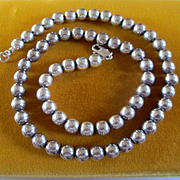 SOLD Sterling Solid Balls Necklace