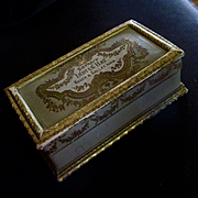 SOLD Beautiful Casket Box Roger Gallet Paris Extrait Indian Hay