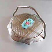 French Guilloche Rose Compact Finger Handle